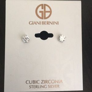 Take 50% off Sterling silver/CZ earrings. (E95)